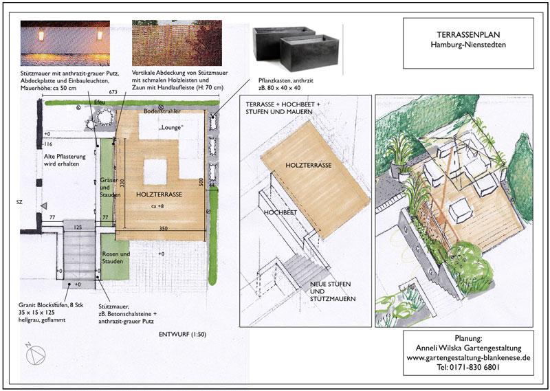 Neue Terrasse Für Einen Innenhofgarten Renovierung Der Holzterrasse